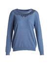 Niebieski Sweter Frigg