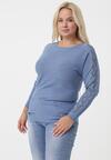Niebieski Sweter Aubergine
