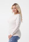 Kremowy Sweter Aubergine