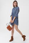 Ciemnoniebieska Sukienka Biscotti