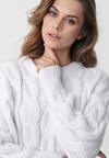 Biały Sweter Buttermilk