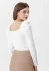 Biały Sweter Boysenberry