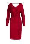 Bordowa Sukienka Eaubonne
