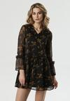 Czarno-Beżowa Sukienka Trindade