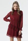 Bordowa Sukienka Vallauris