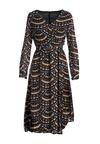 Czarno-Beżowa Sukienka Sarehole
