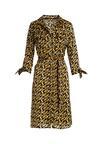 Czarno-Żółta Sukienka Arapiraca