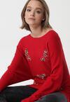 Czerwony Sweter Rosemoor