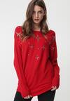 Czerwony Sweter Vittum