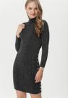 Czarno-Srebrna Sukienka Kentlyn