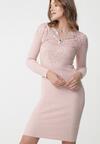 Różowa Sukienka Longueville