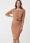 Beżowa Sukienka Dalmore