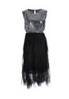 Czarno-Srebrna Sukienka Hedge