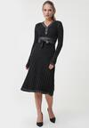 Czarno-Srebrna Sukienka Bellara