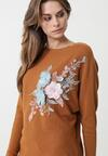 Camelowy Sweter Bowden