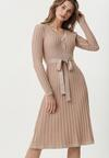 Beżowa Sukienka Blytheville