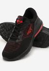 Czarno-Czerwone Buty Sportowe Carlow