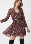 Bordowa Sukienka LaCrosse