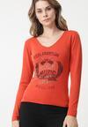 Pomarańczowy Sweter Bungala