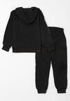 2-Częściowy Czarny Komplet Dresowy Sporty Autumn