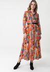 Pomarańczowa Sukienka Wicklow