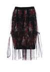 Czarno-Czerwona Spódnica Tempbam