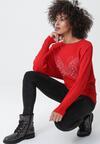 Czerwony Sweter Drop Out