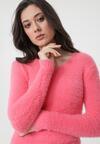 Różowy Sweter No Care