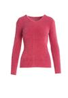 Ciemnoróżowy Sweter No Care