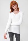 Biały Sweter No Care