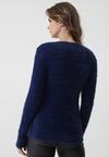 Granatowy Sweter No Care