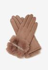 Ciemnobeżowe Rękawiczki What Happend