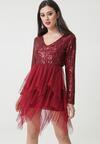 Bordowa Sukienka Millard