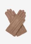 Beżowe Rękawiczki Aragona