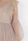 Beżowa Sukienka Tierney