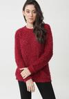 Bordowy Sweter Shania