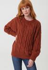 Brązowy Sweter Buttermilk