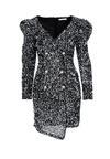 Czarno-Srebrna Sukienka Annunziata
