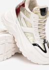 Biało-Srebrne Sneakersy Theodora