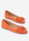 Pomarańczowe Balerinki Hagan