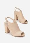 Beżowe Sandały Miles