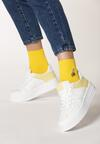 Biało-Żółte Sneakersy Christy