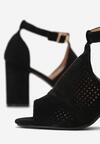 Czarne Sandały Anum