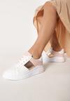 Biało-Różowe Sneakersy Larson