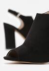 Czarne Sandały Miles