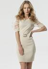 Jasnobeżowa Sukienka Outstanding Balance