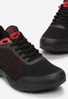 Czarno-Czerwone Buty Sportowe Nieves