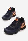 Granatowo-Pomarańczowe Buty Sportowe Tonisha