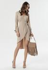 Jasnobeżowa Sukienka Travers