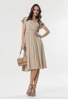 Beżowa Sukienka Samiyah